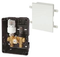 Комплектующие для систем водоснабжения и отопления Meibes Регyлировочный короб RTL-I Exclusiv со скрытым термоэлементом (F11832) с расходомером