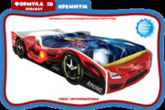 Детская кровать Детская кровать Домик-Land Формула 3D Премиум красная