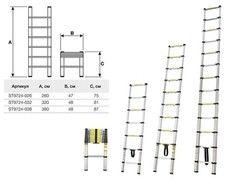 Лестница Startul телескопическая односекционная (ST9724-032)