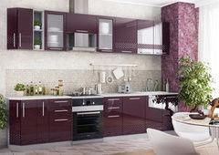 Кухня Кухня ДСВ Мебель Олива фиолетовая 3D