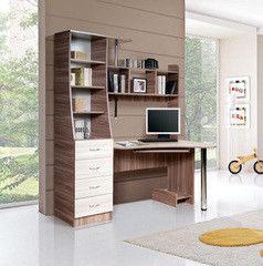 Письменный стол Мебель-Класс Символ МК-95 (ясень шимо светлый/ясень шимо темный)