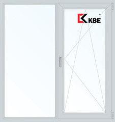 Окно ПВХ Окно ПВХ KBE Пластиковое окно 1300*1400 2К-СП, 5К-П, П/О+Г