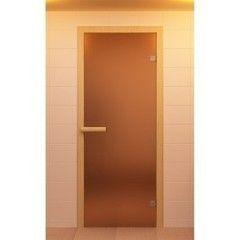 Дверь для бани и сауны Дверь для бани и сауны ALDO Стандарт бронза матовая 590х1890