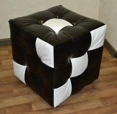 Пуфик Пуфик Tiolly Кубик черно-белый №2 40х40