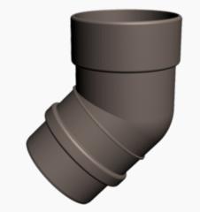Водосточная система Docke Lux Колено трубы 45° (шоколад)