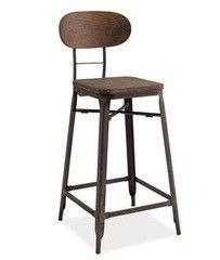Барный стул Барный стул Signal Lope (темный орех/графит)
