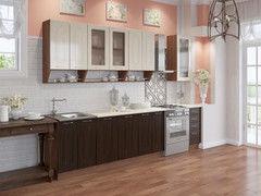 Кухня Кухня Артем-мебель Дарина Магия орех темный/ваниль 2,2м