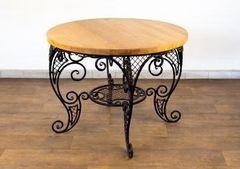 Обеденный стол Обеденный стол СЮГ кованый круглый