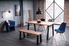 Обеденный стол Обеденный стол Signal Ronaldo 180 (дуб натуральный/черный)