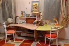 Детский стол VMM Krynichka для детской комнаты двухместный (модель 9)