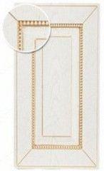 Мебельный фасад Мебельный фасад ЗОВ Глазго БЗ (белый, патина золото, структура)