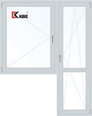 Окно ПВХ Окно ПВХ KBE Эксперт 1440*2160 2К-СП, 5К-П, П+П/О