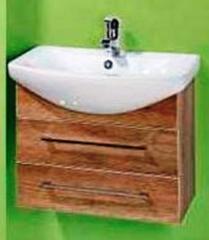 Мебель для ванной комнаты Акваль Тумба Паола 60 орех