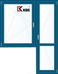 Окно ПВХ Окно ПВХ KBE 1440*2160 2К-СП, 5К-П, П/О+П ламинированное (темно-синий)