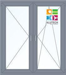 Алюминиевое окно Alutech 1400*1600 П+ПО