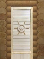 Дверь для бани и сауны Дверь для бани и сауны Doorwood Штурвал эконом 750x1850 (липа)