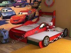 Детская кровать Детская кровать СлавМебель Машинка №7 (красный)