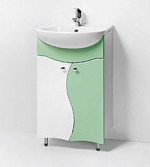 Зеленая мебель для ванной Акваль Тумба под умывальник Милана зел. 50 см