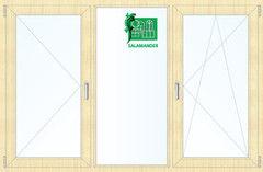 Окно ПВХ Окно ПВХ Salamander 2060*1420 2К-СП, 5К-П, П+Г+П/О ламинированное (светлое дерево)