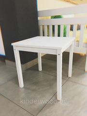 Детский стол Kinderwood из массива (белый)