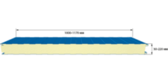 Сэндвич панель Сэндвич панель Лиссант Стеновая PUR 200 мм