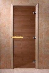 Дверь для бани и сауны Дверь для бани и сауны Doorwood Бронза 6мм