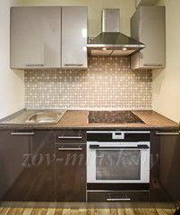 Кухня Кухня ЗОВ пластик Платина-Антрацит (180)