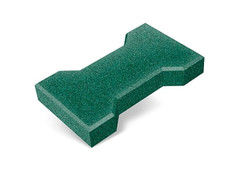 """Резиновая плитка Rubtex Брусчатка """"Катушка"""" 220x130 (толщина 20 мм, зеленая)"""