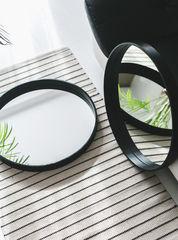 Зеркало BentWoodStudio настенное круглое (черное)