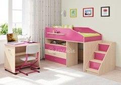 Двухъярусная кровать Легенда 12.2 (венге светлый+розовый)