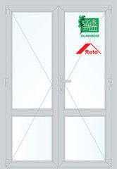 Дверь ПВХ Дверь ПВХ Salamander STL 1300*2100 двустворчатая Модель 25