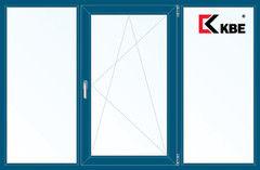 Окно ПВХ KBE 2060*1420 2К-СП, 5К-П, Г+П/О+Г ламинированное (темно-синий)