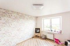 Натяжной потолок ТЕХО белый сатиновый в детской