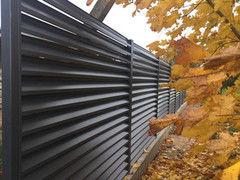 Забор Забор МСК Инвест Забор-жалюзи двухсторонний (цвет 7024/ 7024)