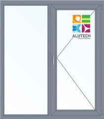 Алюминиевое окно Alutech 1400*1600 Г+П