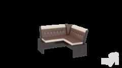 Кухонный уголок, диван ТриЯ Кантри-мини Т2 исп.1 МФ-105.025 (венге)