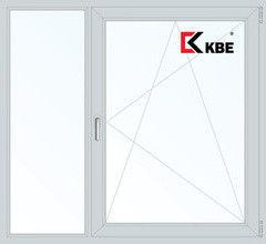 Окно ПВХ Окно ПВХ KBE 1460*1400 2К-СП, 5К-П, Г+П/О