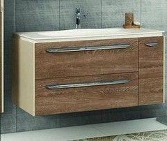 Мебель для ванной комнаты Акватон Тумба-умывальник Блент 2Б 80 кремовый/дуб европейский (1A160901BLAP0)