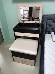 Туалетный столик Мебельный конструктор Модница с зеркалом и банкеткой (набор)