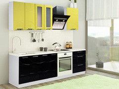 Кухня Кухня Артем-мебель Оля Вираж (черный / олива)