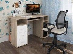 Письменный стол Интерлиния СК-010 Дуб сонома+Белый