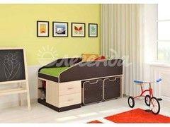 Детская кровать Легенда 8 (венге светлый+венге темный)