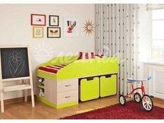 Детская кровать Детская кровать Легенда 8 (венге светлый+лайм)