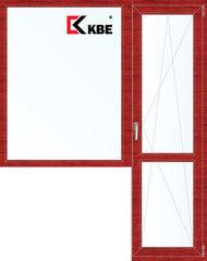 Окно ПВХ Окно ПВХ KBE 1860*2160 2К-СП, 5К-П, Г+П/О ламинированное (вишня)