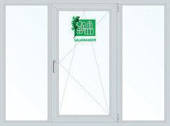 Окно ПВХ Salamander 1800*1400 2К-СП, 5К-П, Г+П/О+Г