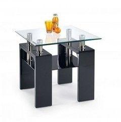 Журнальный столик Halmar Diana H Kwadrat (черный)