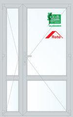Дверь ПВХ Дверь ПВХ Salamander 2D 1300*2100 двустворчатая Модель 37