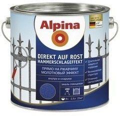 Эмаль Эмаль Alpina Direkt auf Rost Hammerschlageffekt (коричневый)