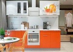 Кухня Кухня Горизонт Премьера (металлик+фотопечать Апельсин)