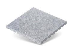 """Резиновая плитка Rubtex Плитка """"Грунт"""" 500x500 (толщина 40 мм, серая)"""